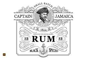 Rum Label Vintage Logo