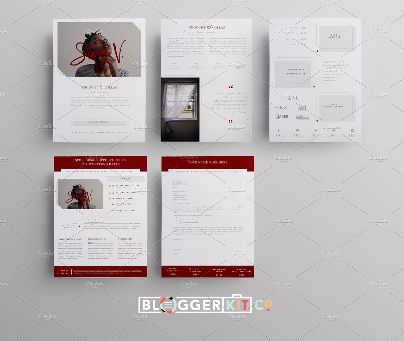 Media Kit + Sponsorship Set | 5 Pgs ~ Resume Templates ~ Creative Market