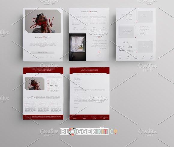 Media Kit Sponsorship Set Pgs Resume Templates Creative - Sponsorship brochure template