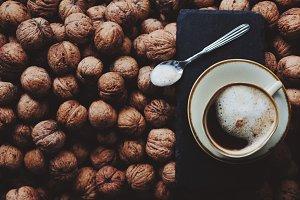 Coffee and walnuts