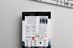 Food Blog Media Kit | One Page