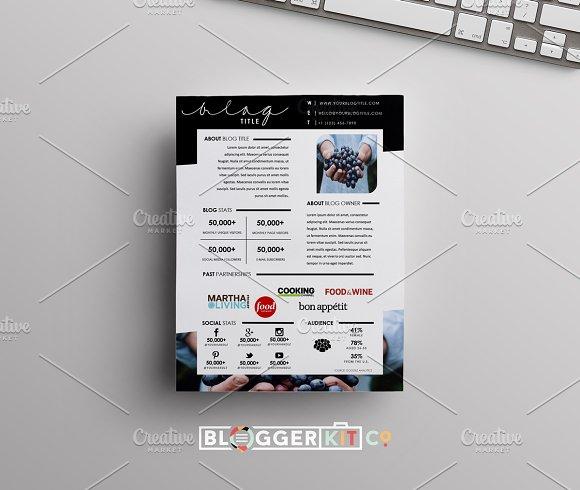 Food Blog Media Kit | One Page