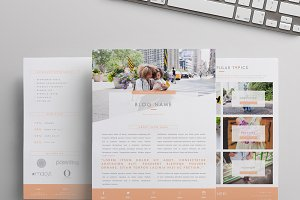 Blogger Media Kit Template | 3 Pages