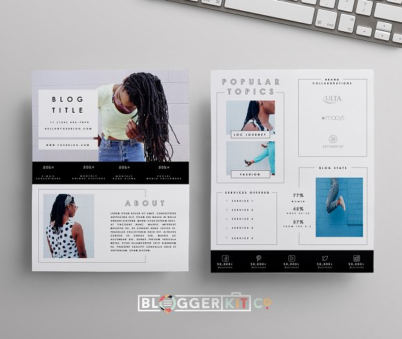 Blog Media Kit | Two Pages