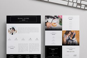 Beauty Blogger Media Kit | Two Pages