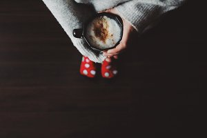 Red socks and coffee