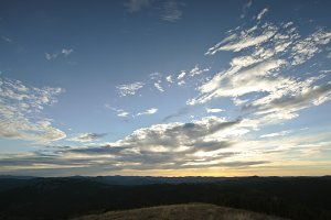 Sunset in the Sierra del Segura,