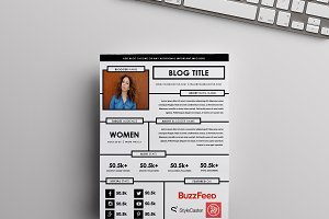 Blog Media Kit Template | One Page