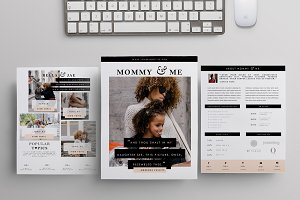 Blog Media Kit Template | 3 Pages