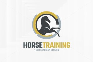 Horse Training Logo Template