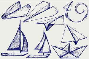 Ships and boats origami
