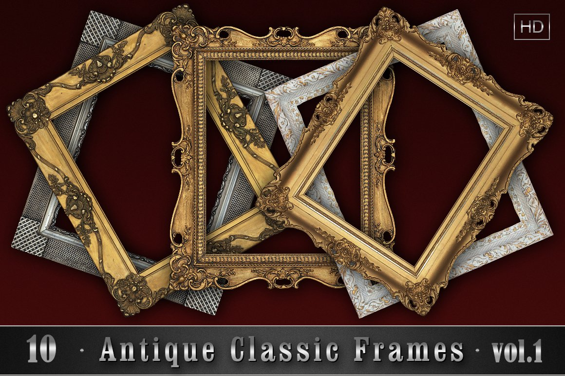 10 Antique Classic Frames vol.1 ~ Graphic Objects ~ Creative Market