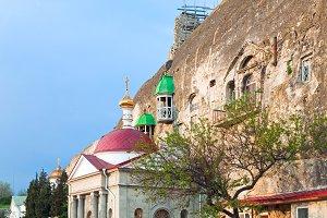 Chapel in rock Crimea mountain