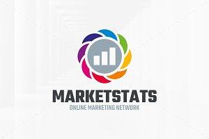 Market Stats Logo Template