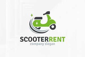 Scooter Rent Logo Template