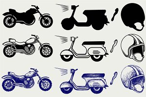 Motorcycles set