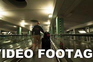 Hyperlapse of escalator ride