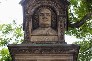 Old Bach Monument Leipzig