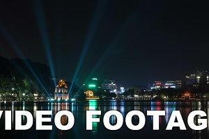 Timelapse of night Hanoi
