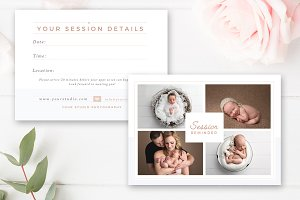 Newborn Session Reminder Card