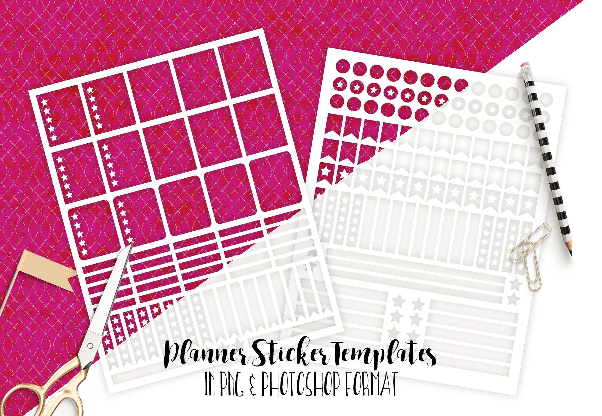 planner sticker templates photoshop templates creative market