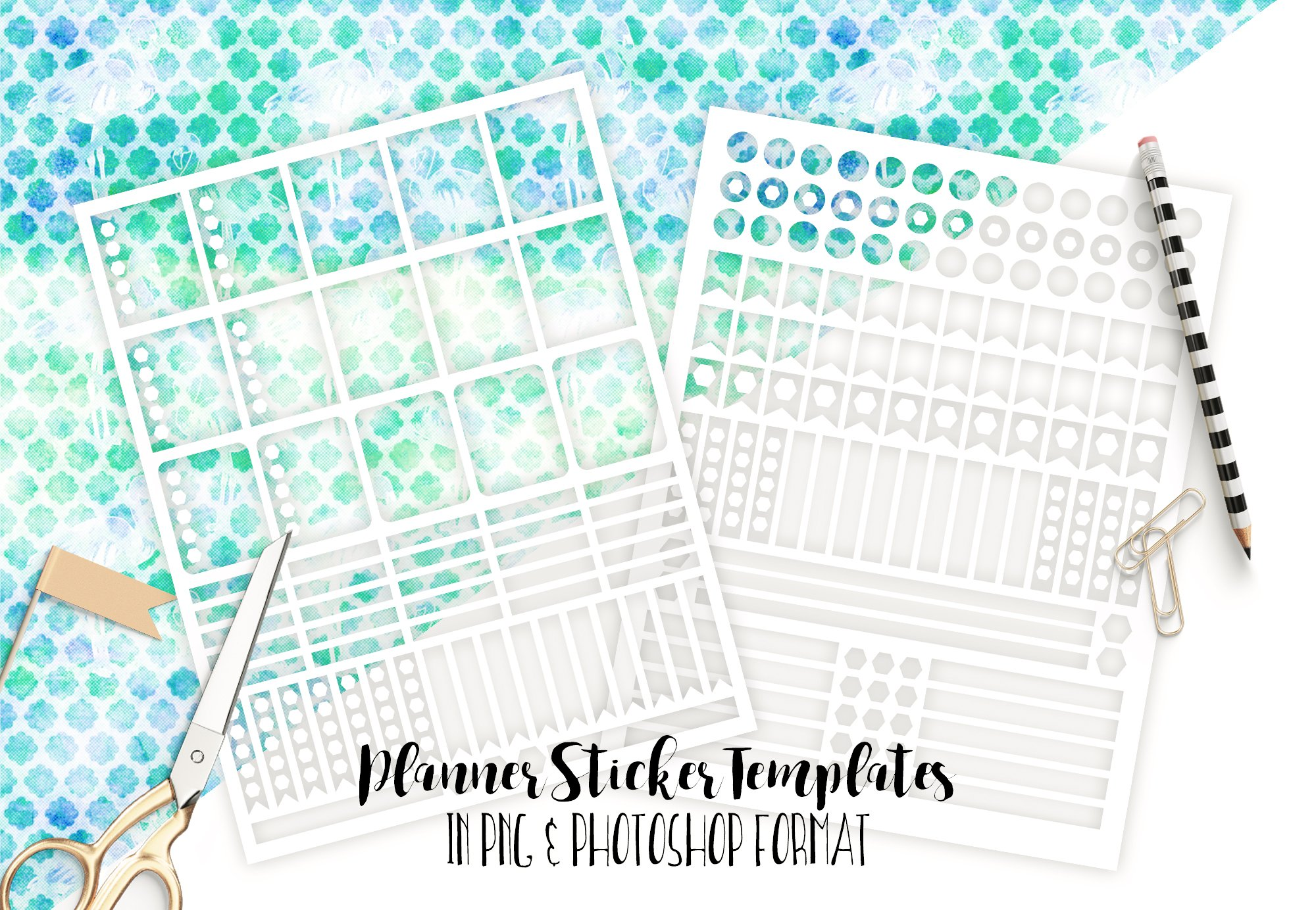 Planner Sticker Templates Photoshop Stationery Templates - Sticker layout template