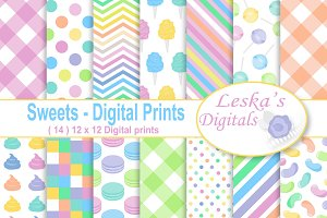 Candy Digital Paper Patterns
