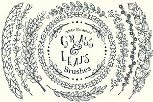Grass&Leafs AdobeIllustrator brushes