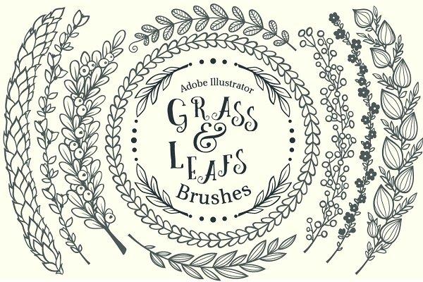 Grass&Leafs AdobeIllustrator brushe…