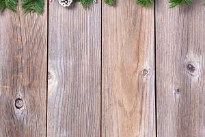 Xmas Wood Background