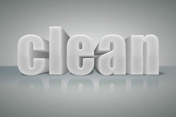 Clean 3D Text Volume 1 PSD Mockup - Free Mockups PSD Premium