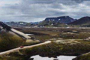 Road in Iceland landscape