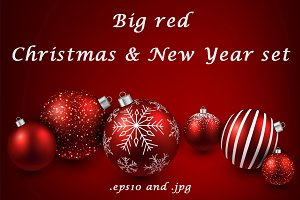 Big red Christmas & New Year set