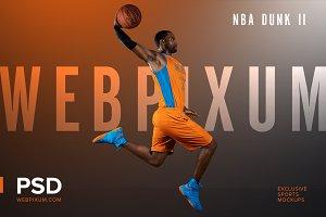 NBA Dunk II Mockup Template