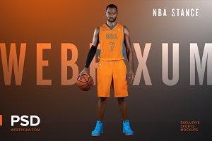 NBA Stance Mockup Template