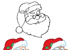 Santa Claus Winking . Collection