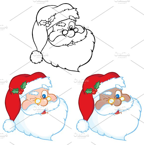 Santa Claus Winking . Collection - Illustrations