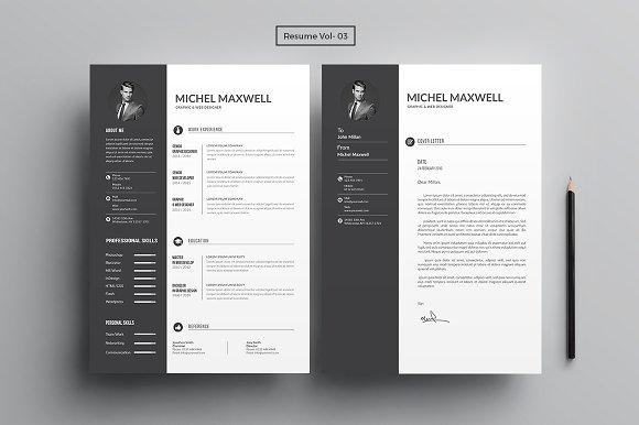 resume cv bundle resume templates creative market