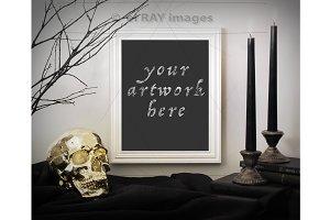Halloween Theme - White Frame Mockup