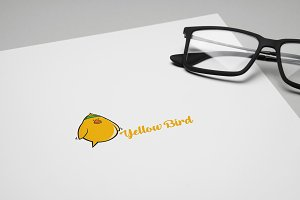 Yellow Bird Logo Template