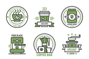 Vector coffee monogram design