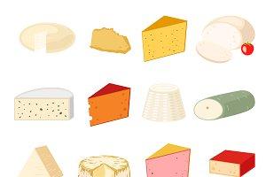 Delicious fresh cheese vector