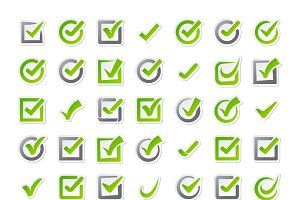 Check box vector icons