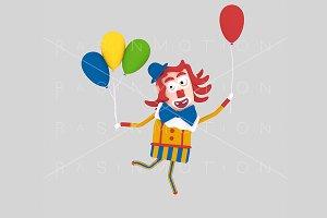 3d illustration. Clown.