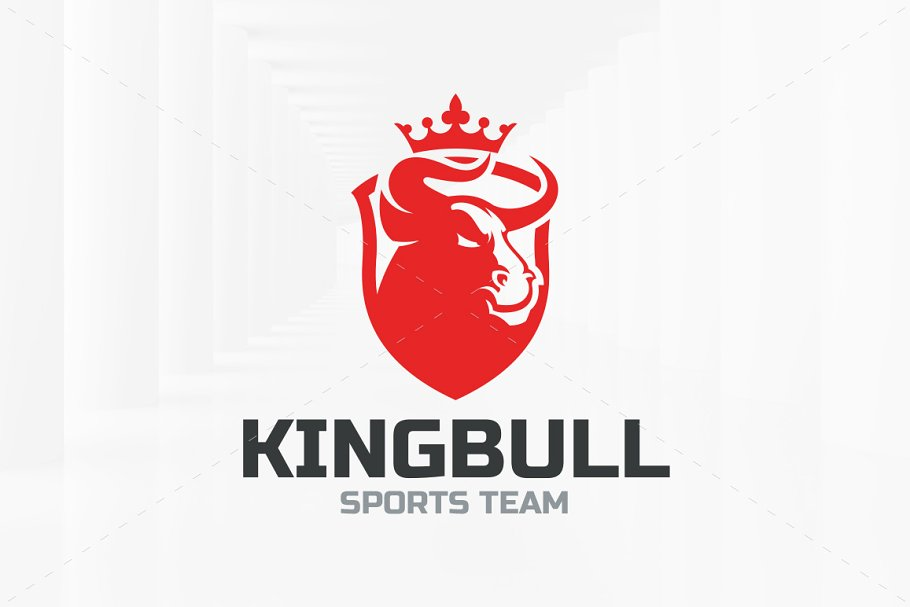 King Bull Logo Template in Logo Templates - product preview 8