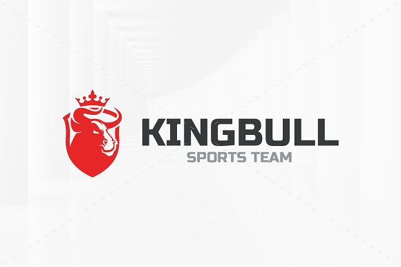 King Bull Logo Template in Logo Templates - product preview 1