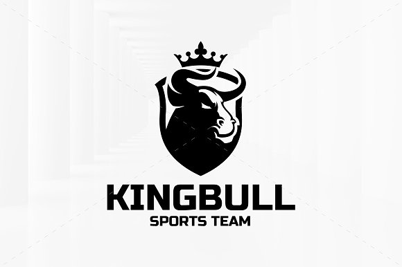 King Bull Logo Template in Logo Templates - product preview 2