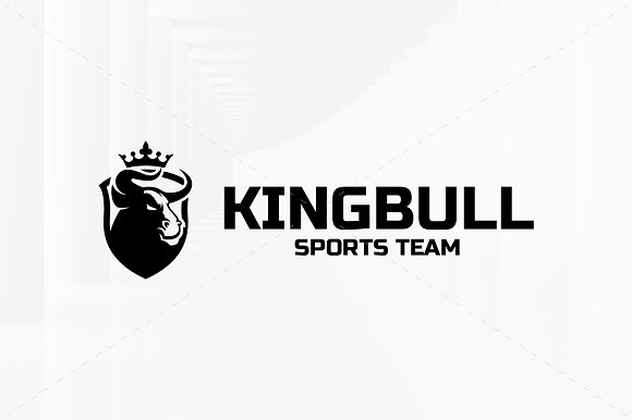 King Bull Logo Template in Logo Templates - product preview 3