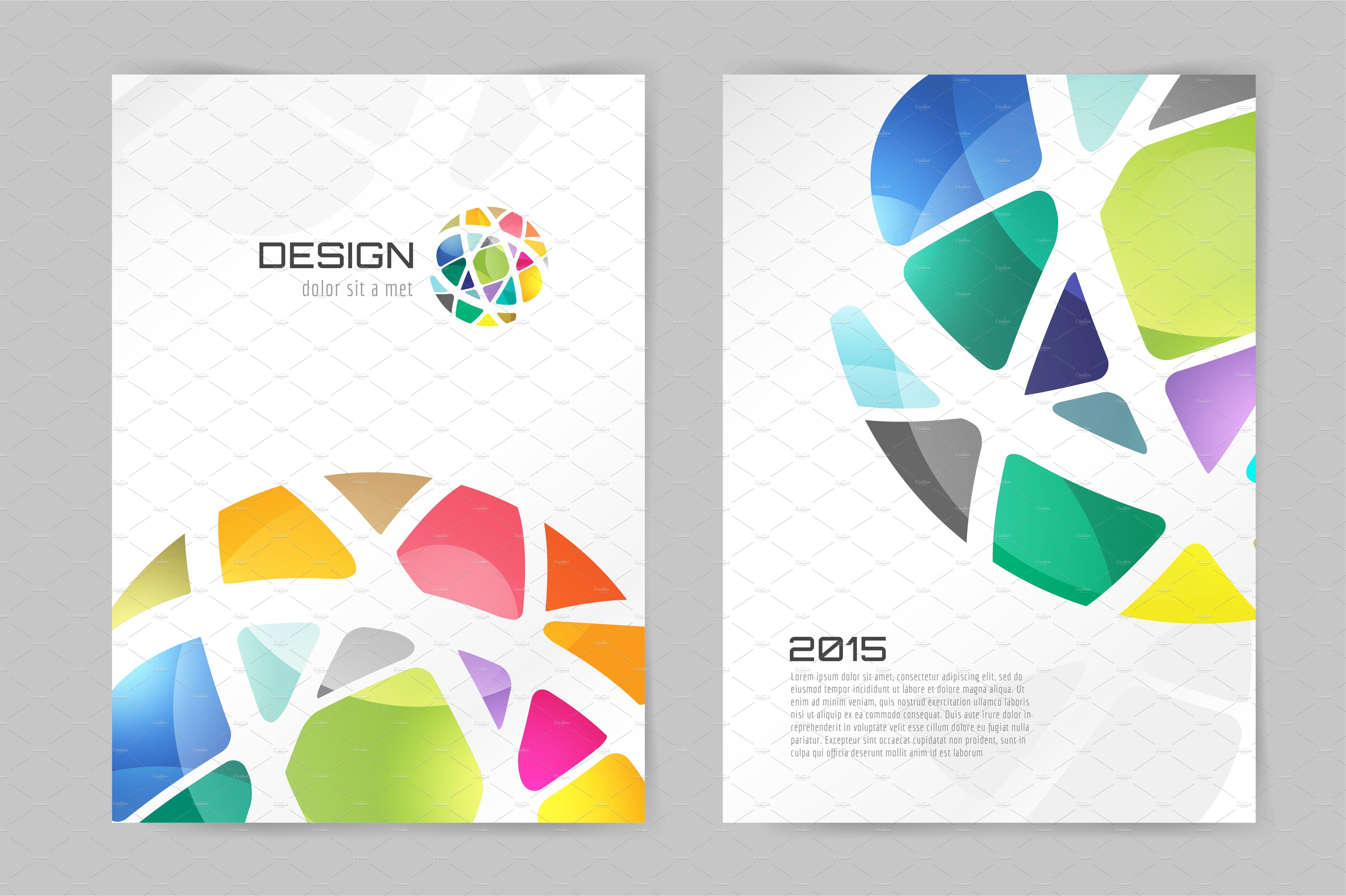 Creative Book Design Vector : Vector flyer design template illustrations creative market