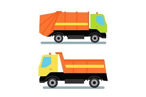 Two Orange Truck